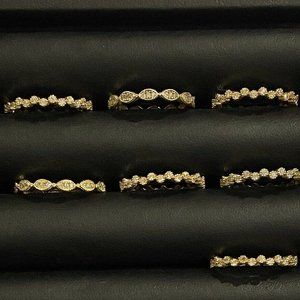 Sterling Silver Lot Of 7 Rings 5-7
